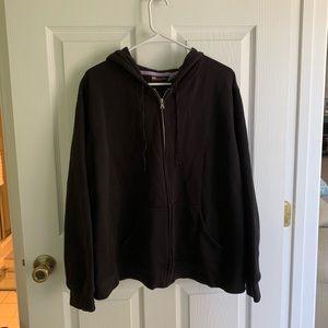 Women's black zip up hoodie